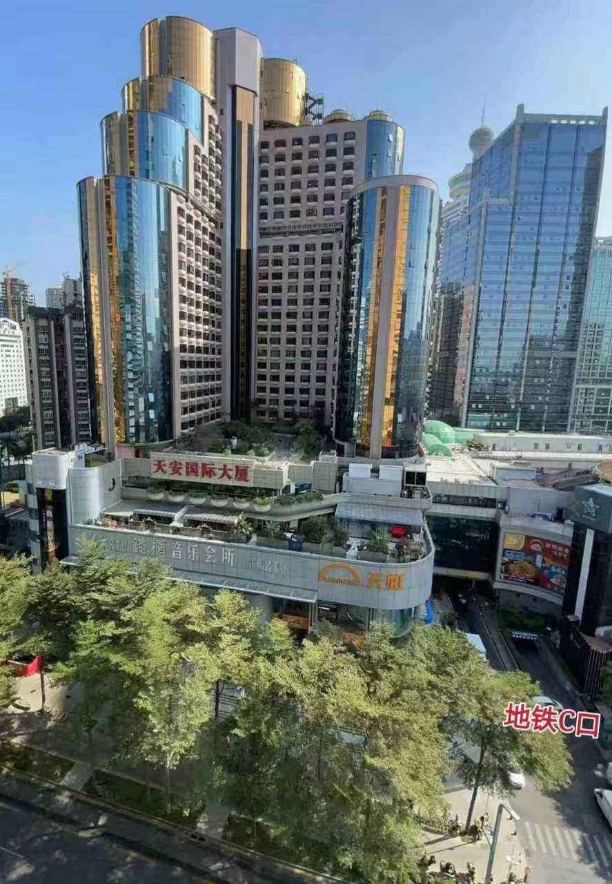 罗湖 天安国际大厦 168平 电梯口单位写字楼出租