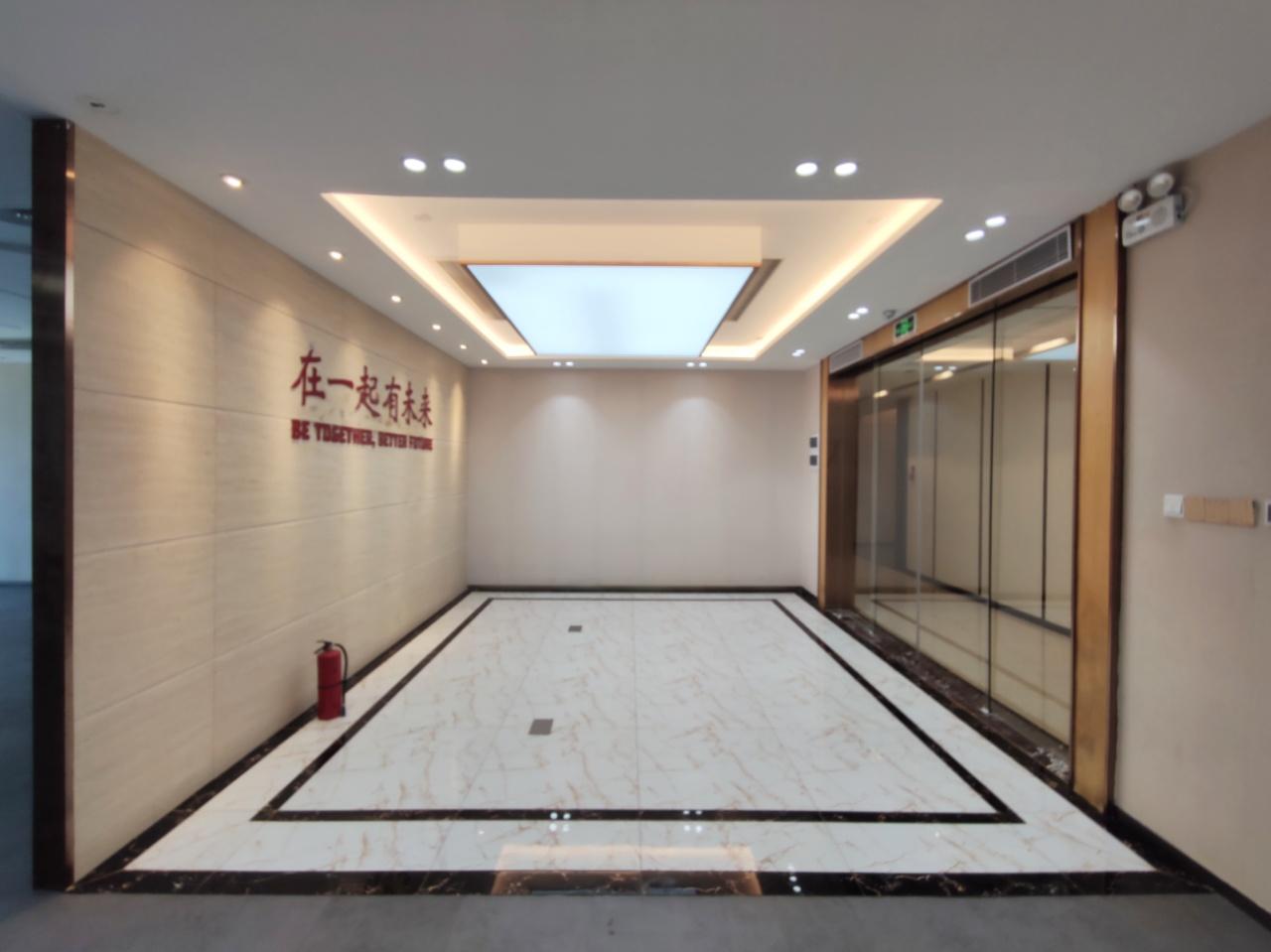 南山科技园9号线地铁上盖粤美特大厦开发商直租672平精装修户型方正双面采光