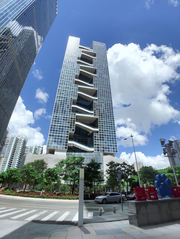 南山百度国际大厦 精装841平开发商直租超高使用率电梯口带空中花园高层看海景拎包入驻